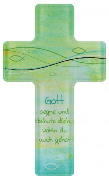 Kreuz aus Acryl - Gott segne und behüte dich