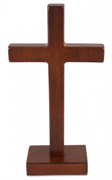Stehkreuz, Kreuz aus Erlenholz dunkel-lackiert