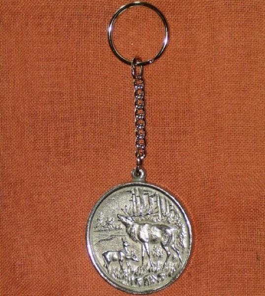 Schlüsselanhänger mit Hirsch aus Zinn