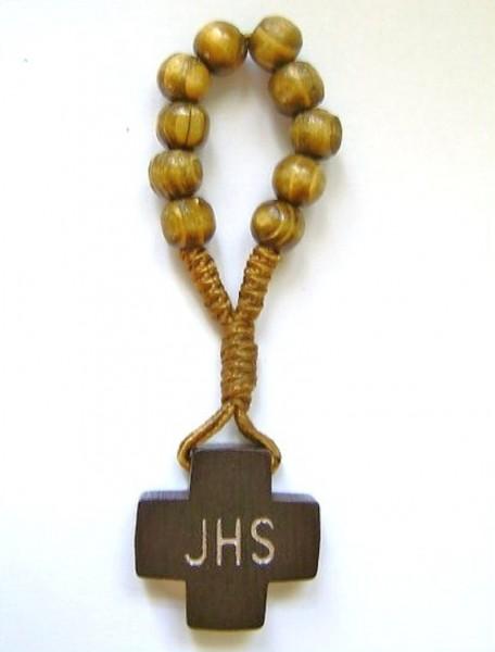 Gebetsring, Fingerrosenkranz, dunkel, JHS, Devotionalien