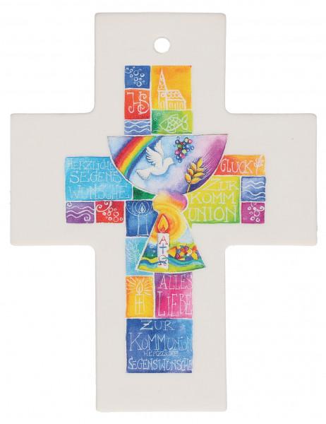 Kreuz aus Porzellan - Schutz und Segen