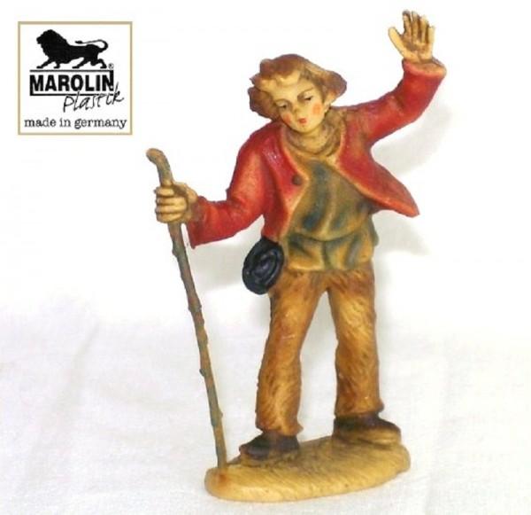 Hirt in die Ferne sehend Krippenfigur 7cm Marolin Plastik Figur