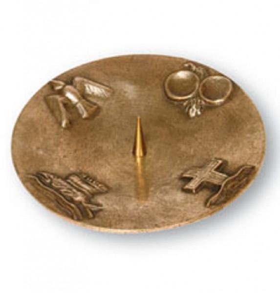 Symbolleuchter aus Bronze für Kerzen bis 90mm D
