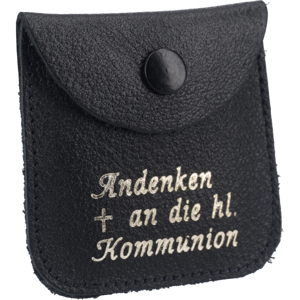 Rosenkranztäschen-Leder - Rosenkranz-Etui, schwarz