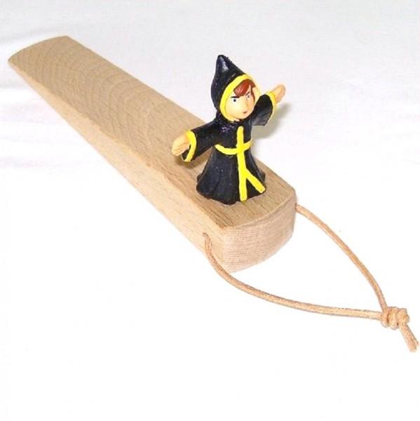 Türstopper aus Holz mit Plastik Figur Münchner Kindl