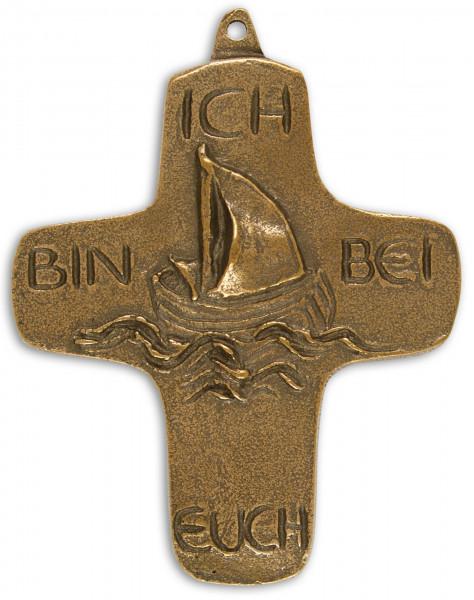 Kreuz aus Bronze - mit Motiv, Ich bin bei euch