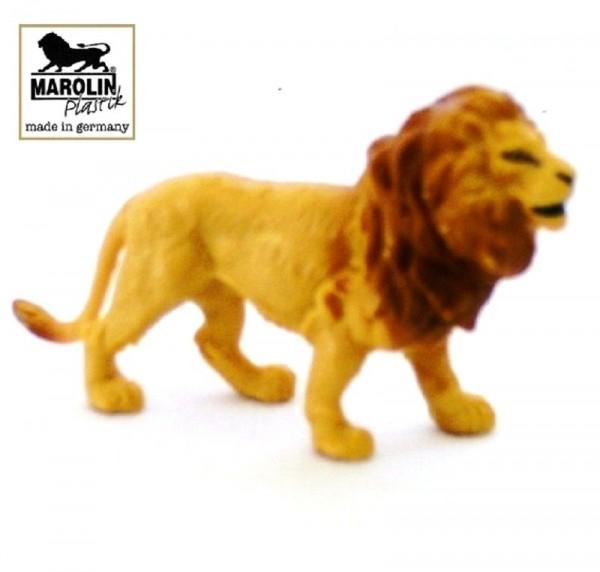Tierfigur Löwe stehend Marolin Plastik Deko Sammelfigur