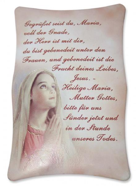Bild Gegrüßet seist du Maria Maria betend 7x10cm