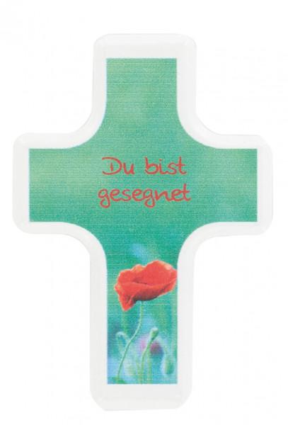 Handschmeichlerkreuz Holz - du bist gesegnet