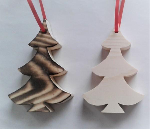 Baumaufhänger Tannenbaum, Christbaumschmuck aus Holz