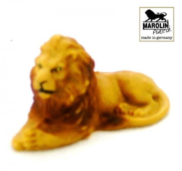 Tierfigur Löwe liegend Marolin Plastik Deko Sammelfigur