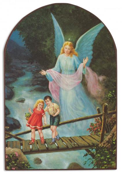 Bild Schutzengel Kinder auf Brücke 15x10cm79/387