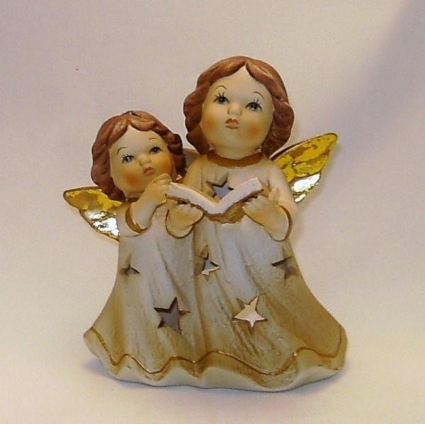 Engelpaar für Teelicht 13cm Engel