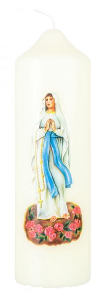 Motivkerze Madonnna Lourdes Kerze, Eierschale