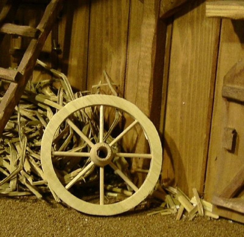 miniatur wagenrad aus holz krippenzubeh r. Black Bedroom Furniture Sets. Home Design Ideas