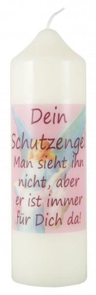 Motivkerze, Dein Schutzengel Eierschale 165/50mm, rosa