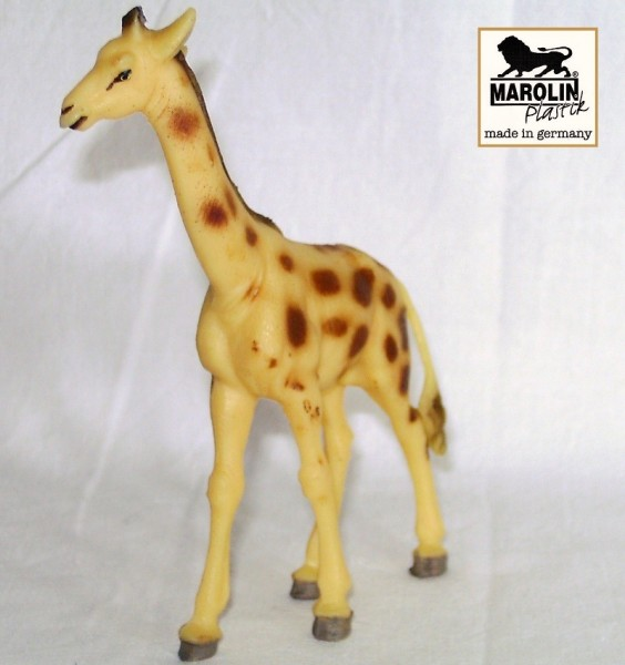Giraffe, Tierfigur Marolin Plastik