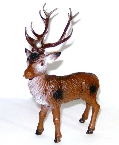Tierfigur Hirsch, Miniatur Deko Sammelfigur aus Plastik