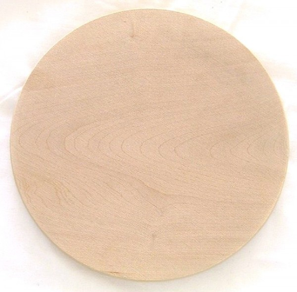 Brotzeitbrett aus Holz, Vesperbrett ohne Rille rund