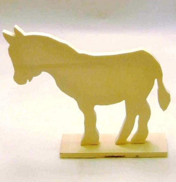Deko Esel aus Sperrholz ca. 14cm