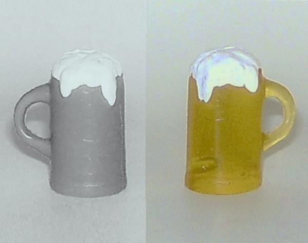 Bierkrug mit Schaum, 3,5cm aus Kunststoff