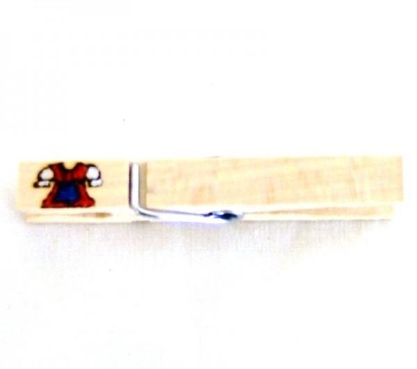 Wiesnglupperl Holzklammer mit Motiv Dinrdl, einseitig