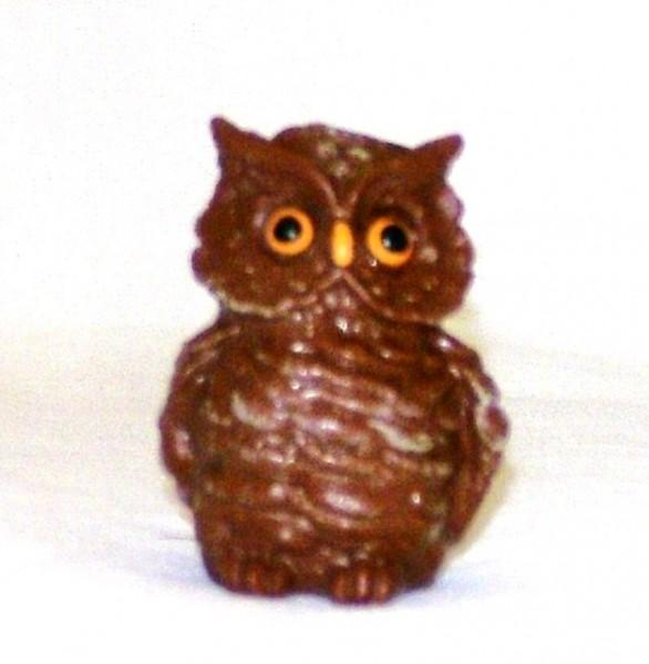 Tierfigur Eule, Miniatur Deko Sammelfigur aus Plastik