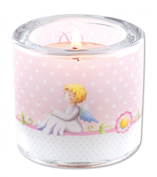 LichtMoment Glaswindlicht - Du bist von Gott geliebt, rosa