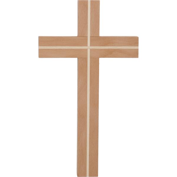 Kreuz Holz-Buche, mit Einlage Ahorn