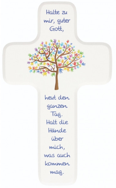 Kinderholzkreuz - Kreuz mit Motiv Lebensbaum