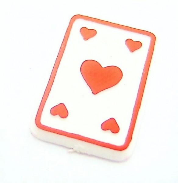 Streuteil aus Kunststoff mini Spielkarte Herz
