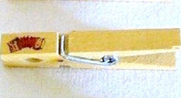 Wiesnglupperl Holzklammer mit Motiv Akkordeoon, einseitig