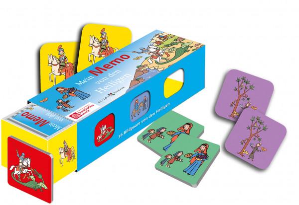 Mein Memo von den Heiligen - Kartenlegespiel