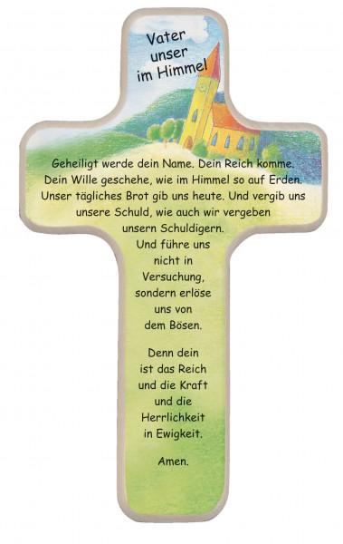 Kinderholzkreuz - Kreuz mit Motiv, Vater unser im Himmel