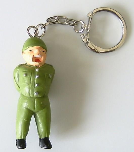 Schlüsselanhänger mit Soldat Feldwebel aus Plastik