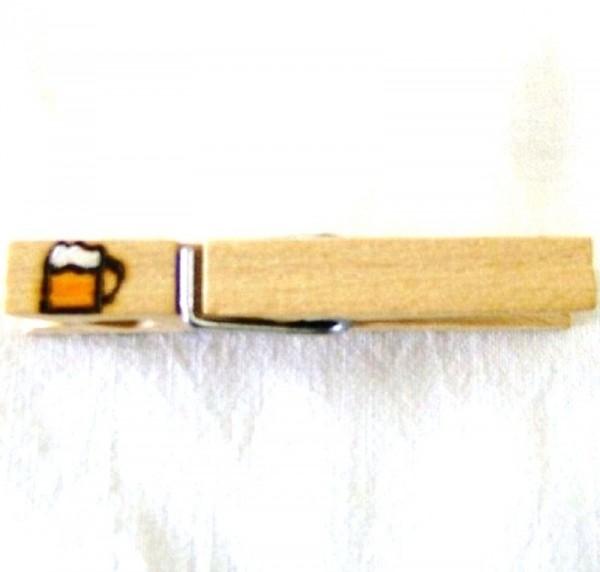Holzklammer mit Motiv Bierkrug
