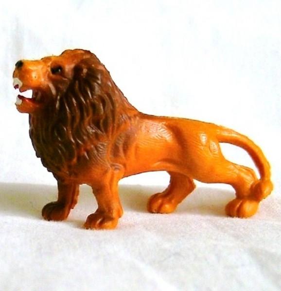 Tierfigur Löwe stehend, Deko Sammelfigur aus Plastik