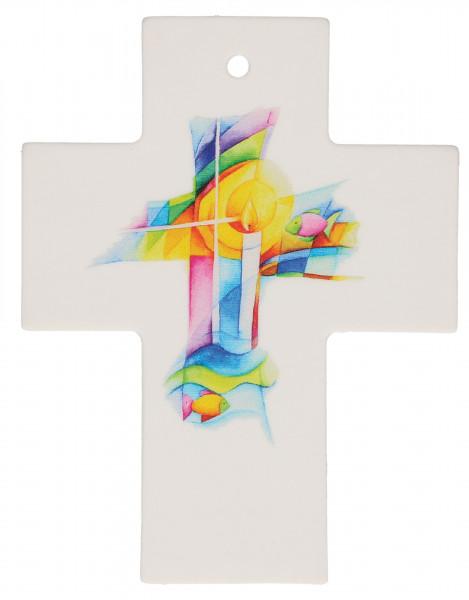 Kreuz aus Porzellan - Gottes Segen