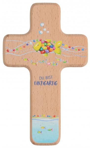 Kinderholzkreuz - Kreuz mit Motiv Du bist einzigartig
