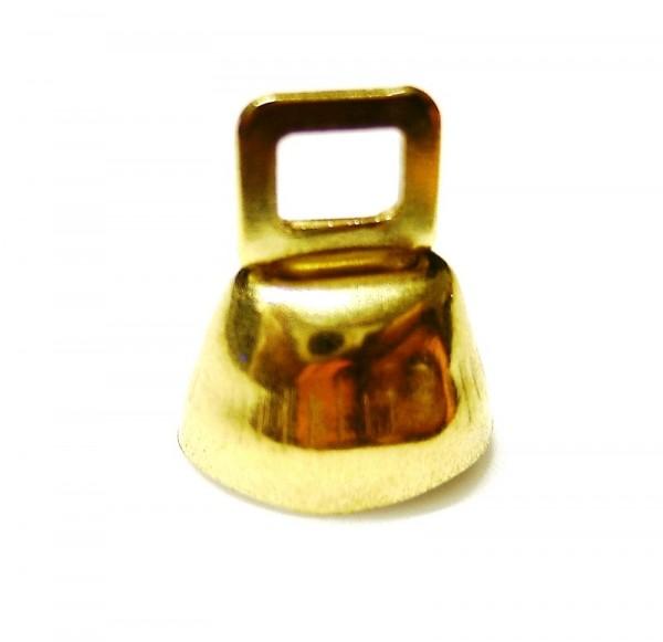 Minikuhglöckchen 13mm vermessingt