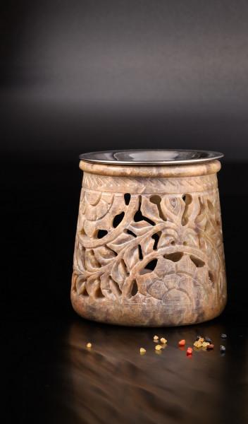 Räucherstövchen aus Speckstein (Farben des Natursteins können variieren)