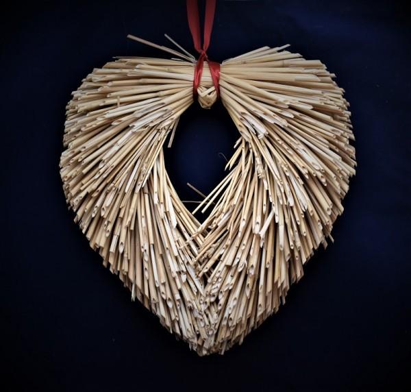 Herz aus Stroh
