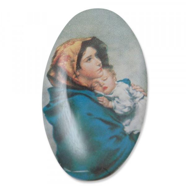 Bildaufkleber oval Madonna Feruzzi 3cm, 61/23-1