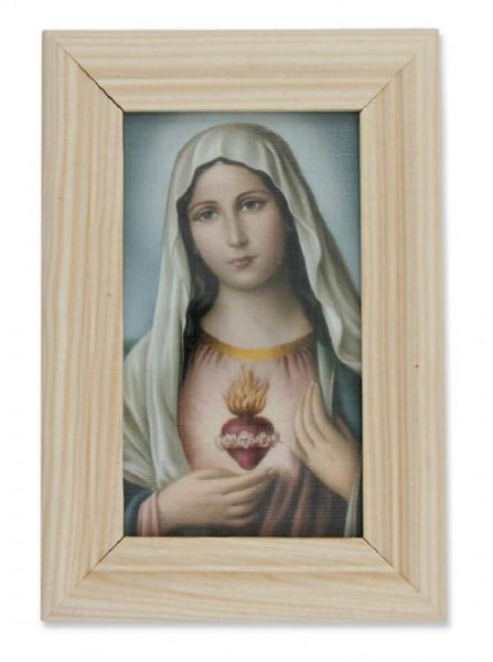 Bild Herz Maria heller Holzrahmen 13 x 8,5cm,79/61