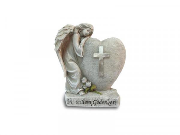 schlafender Engel mit Herz In stillem Gedenken