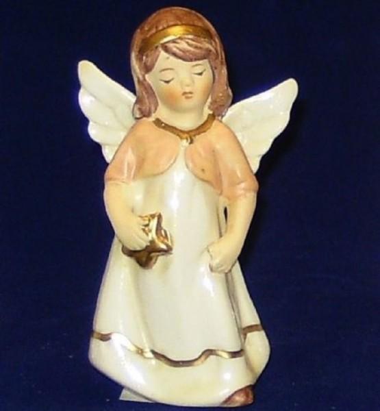 Engel Porzellan stehend 9,5cm mit Stern