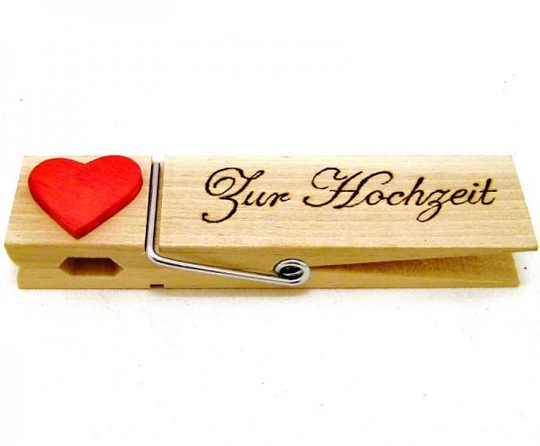 XXL Buchenholzklammer zur Hochzeit