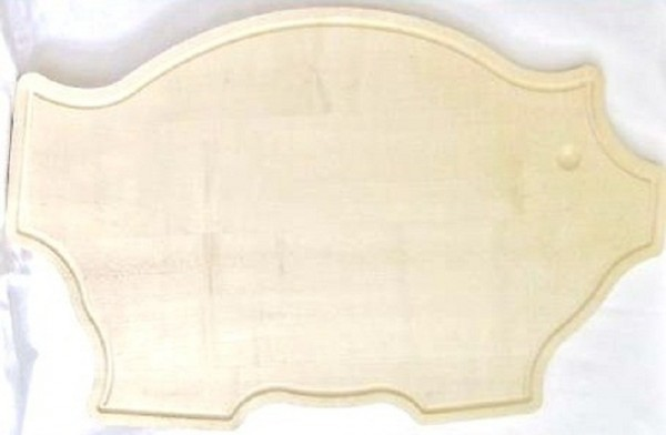 Tranchierbrett Schneidbrett Schwein mit Rille 65x41x2cm