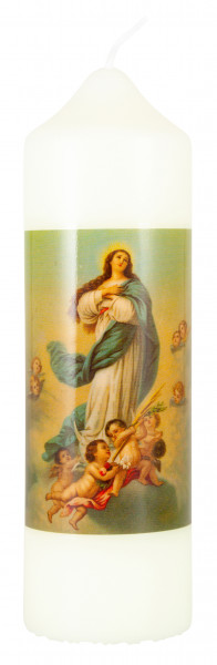 Motivkerze Madonnna mit Engel, Kerze Eierschale