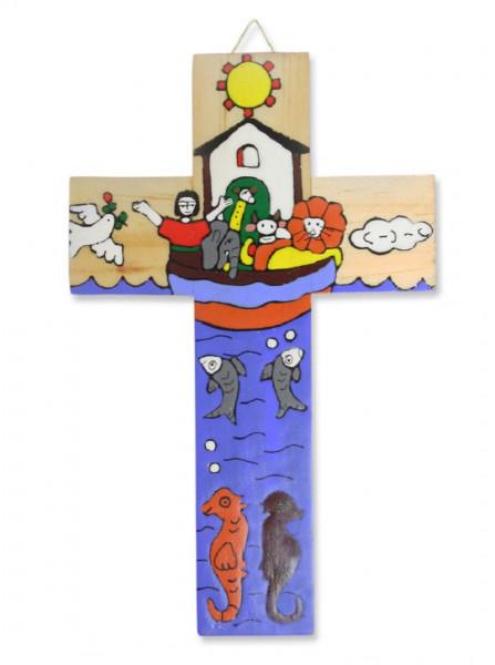 Kinderkreuz Holz, Motiv Arche Noah El Salvador
